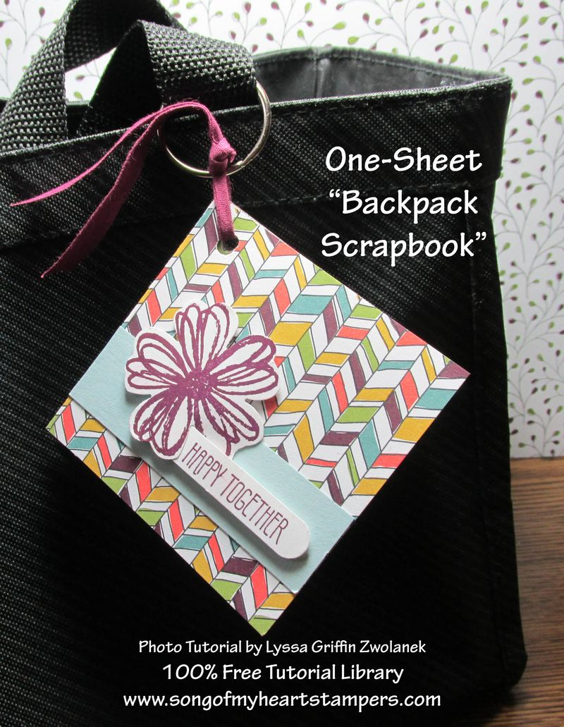 Backpack Scrapbook Tutorial SOMHS