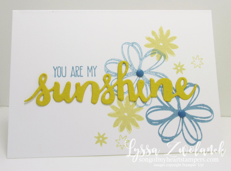 You are my Sunshine card DIY cardmaking Stampin Up shine