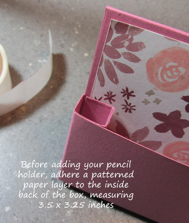 Freestanding post it note holder photo tutorial stampin up 9