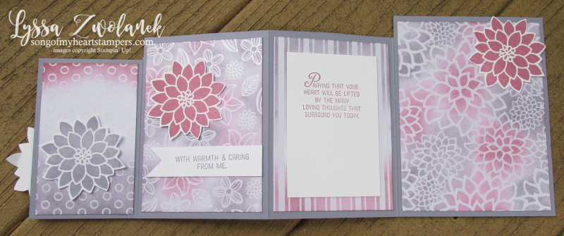 Four Fold fourfold technique card tutorial cardmaking stampin up sketches free