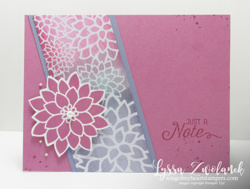 Irresistibly Floral Designer Series Paper sponged technique embossing 2016 swap cardStampin Up OnStage