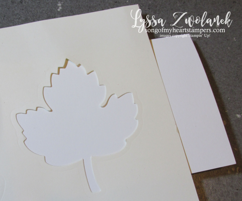 Two minute technique multicolor autumn leaf tree stencil card