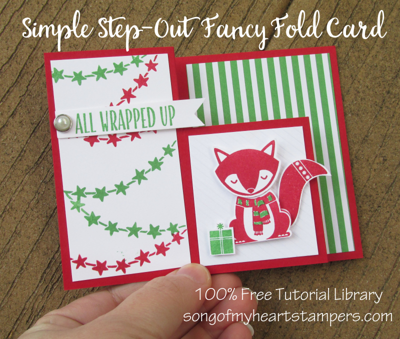 Simple step out tutorial fancy fold christmas cheat sheets