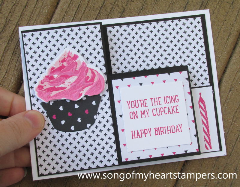 Simple step out cardmaking tutorial fancy fold birthday cheat sheets