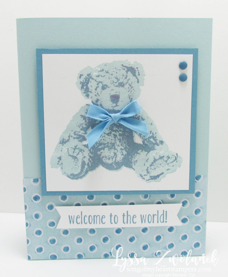 Baby Bear large image design boy card sketches Stampin Up cardmaking