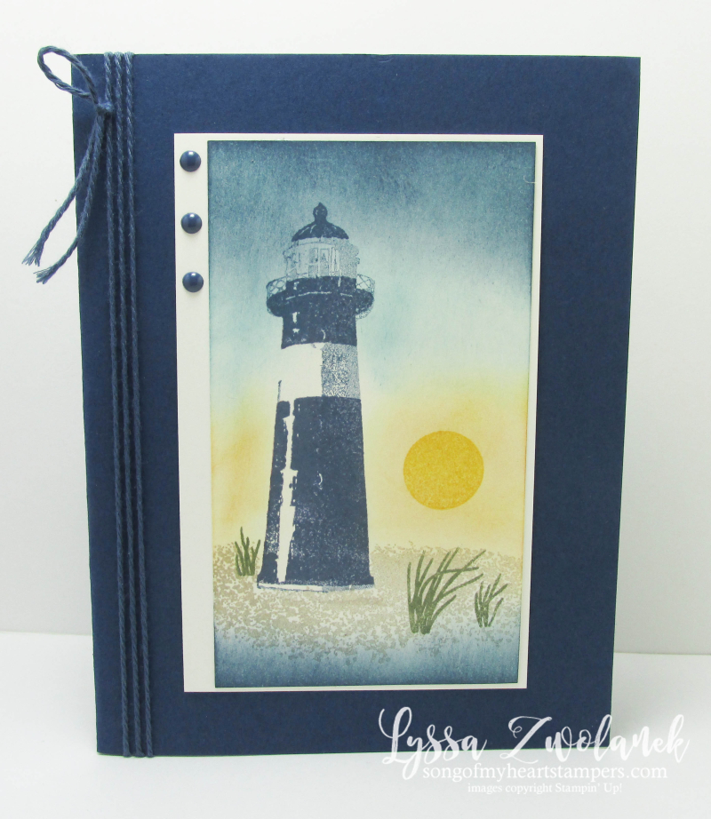 High Tide seashore lighthouse stamp set segulls ocean sunset Stampin Up