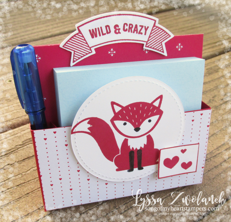 Valentine Foxy Friends punch art foxes raccon squirrel cat kitty rubber stamps note post it stamping