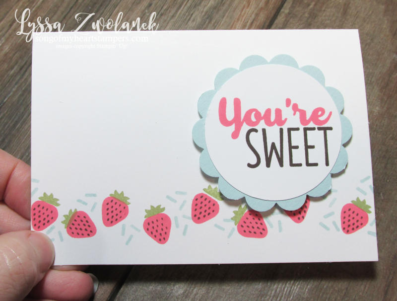 Cool Tasty Treats Ice Cream Strawberries Berry Stampin Up stamp set card rubber stamps