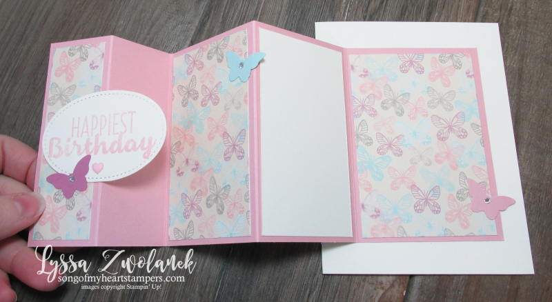 Fanfare Fancy Fold Card stampin up DIY Lyssa song of my heart tutorial
