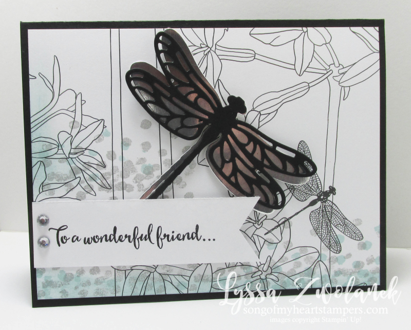 Dragonfly dreams Stampin Up inside Lines designer Series paper SAB 2017