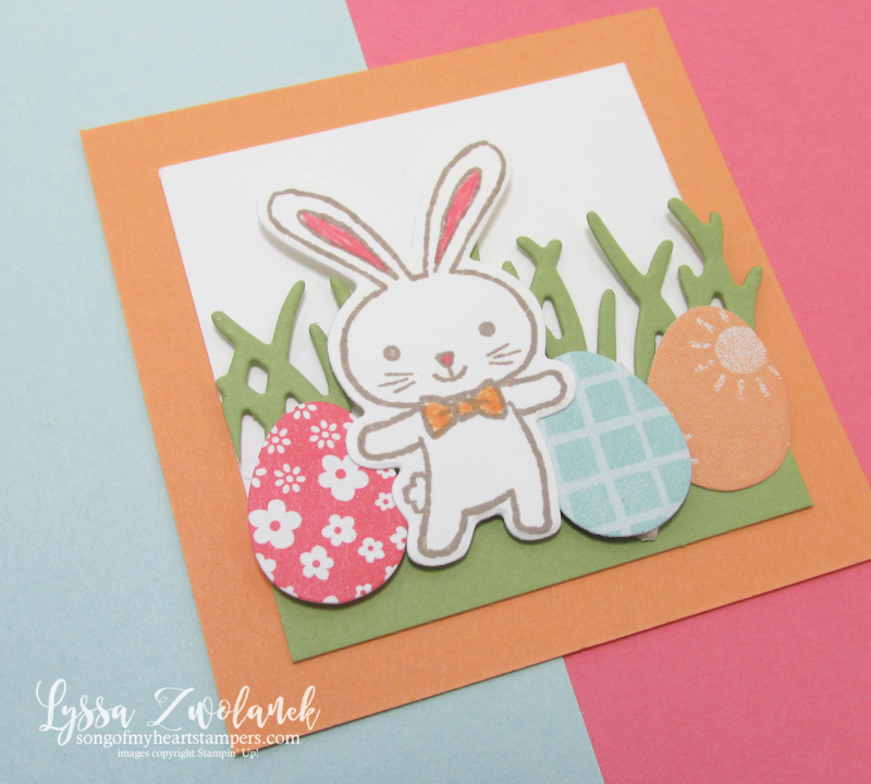 Basket Builders Chocolate Bunny bunnies Easter Eggs spring stampin up grass Lyssa