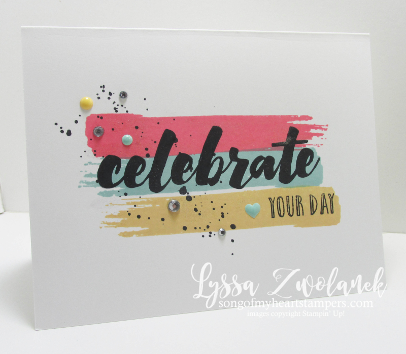 Happy Celebrations stamp set stampin up Lyssa Gorgeous Grunge stamps