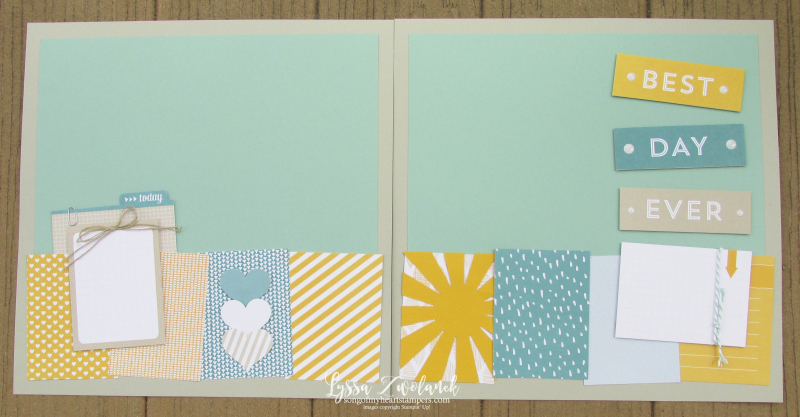 Project Life sale Stampin Up Lyssa scrapbook scrapbooking 12x12 spread layout