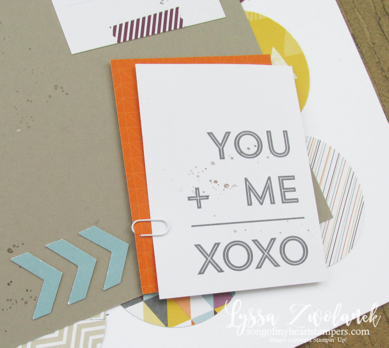 Project Life sale Stampin Up Lyssa scrapbook you and me scrapbooking 12x12 spread layout