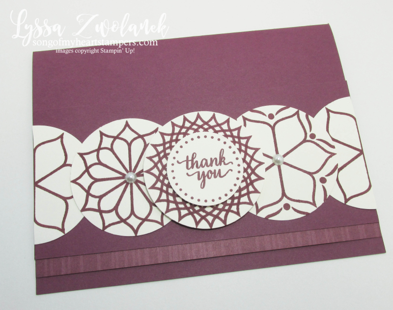 Eastern Palace repeating technique punch trick stampin up Lyssa stamping free tutorials