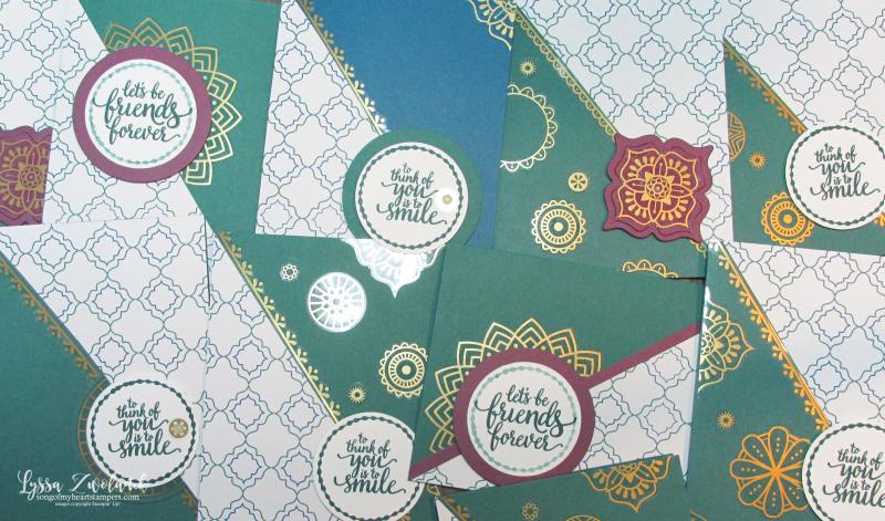 Eastern Palace Beauty stickers Corner sticker photo corners Stampin Up Medallion Gold vinyl Lyssa