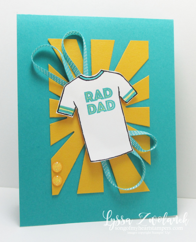 Custom Tee tshirt Fathers Day card masculine guy cards Stampin Up Rad Dad