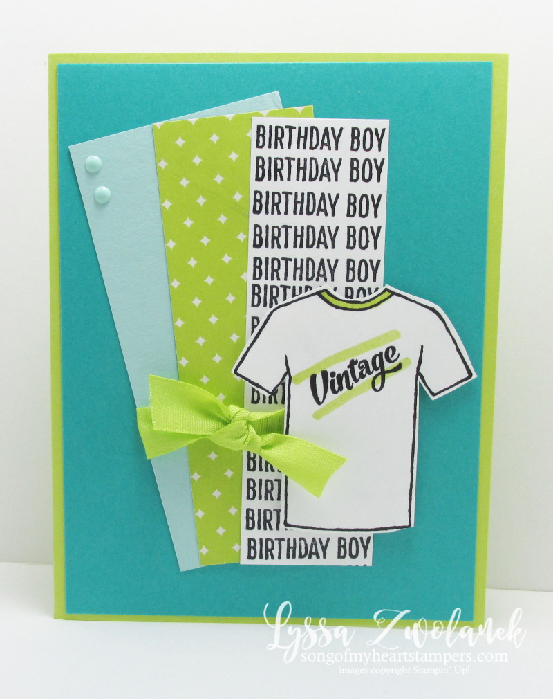 Custom Tee tshirt Fathers Day card masculine guy cards vintage birthday Stampin Up Rad Dad