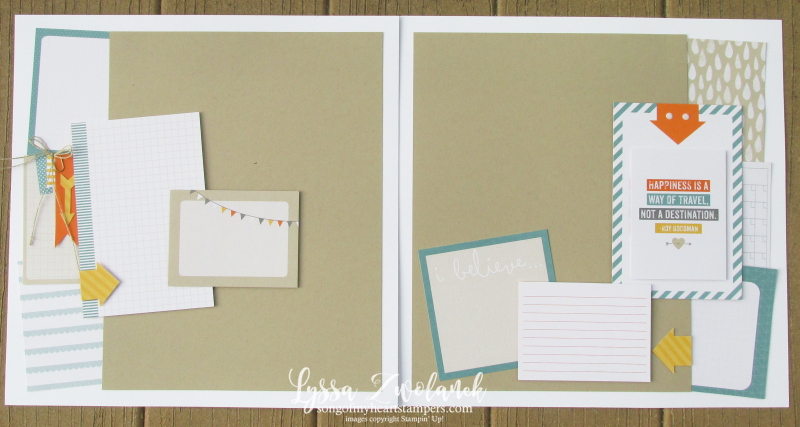 Project Life Scrapbooking traditional layouts 12x12 scrapbook Stampin Up with Lyssa