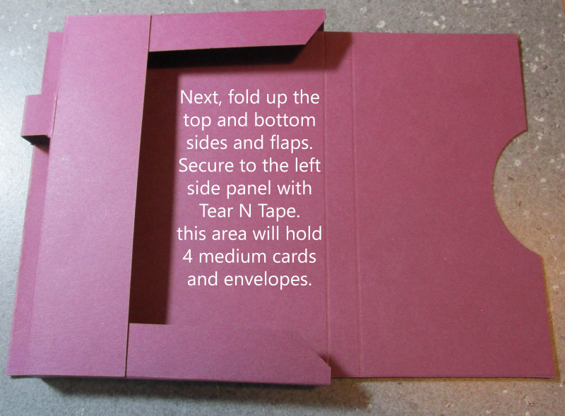 Super Easy Stationery Box with Pen tutorial card Song of My Heart Lyssa Stampin Up