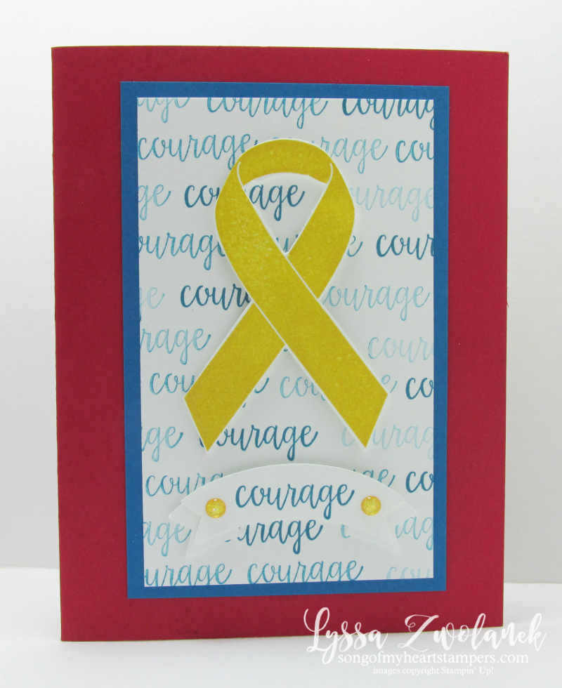 Ribbon of Courage Class of the Month Lyssa Stampin Up patriotic honor flight masculine courage stamp