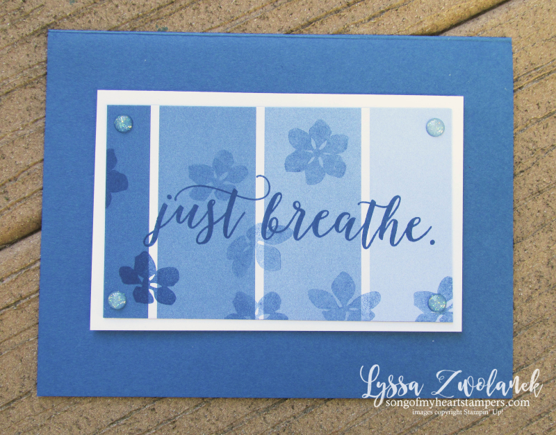 Color Theory Dapper Denim Colorful Seasons ombre paint sample breathe card Stampin Up  papers