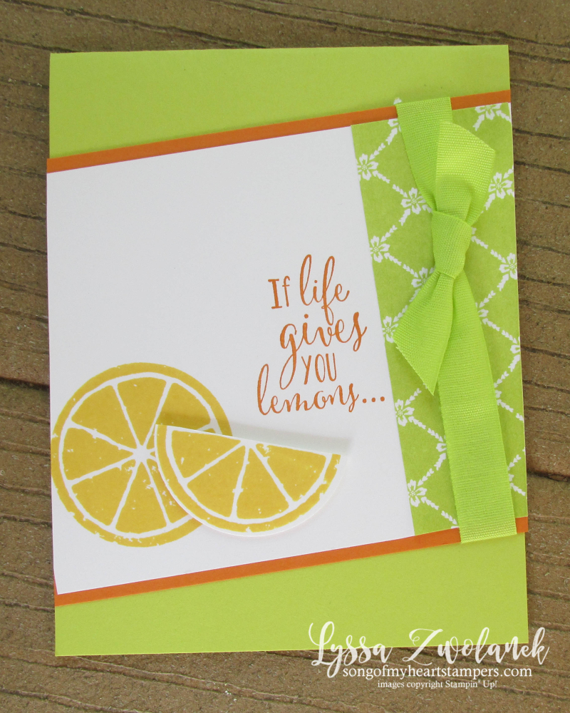 Lemon Zest Builder Punch Bundle Stampin Up Lyssa lime slice stamping orange if life gives lemons