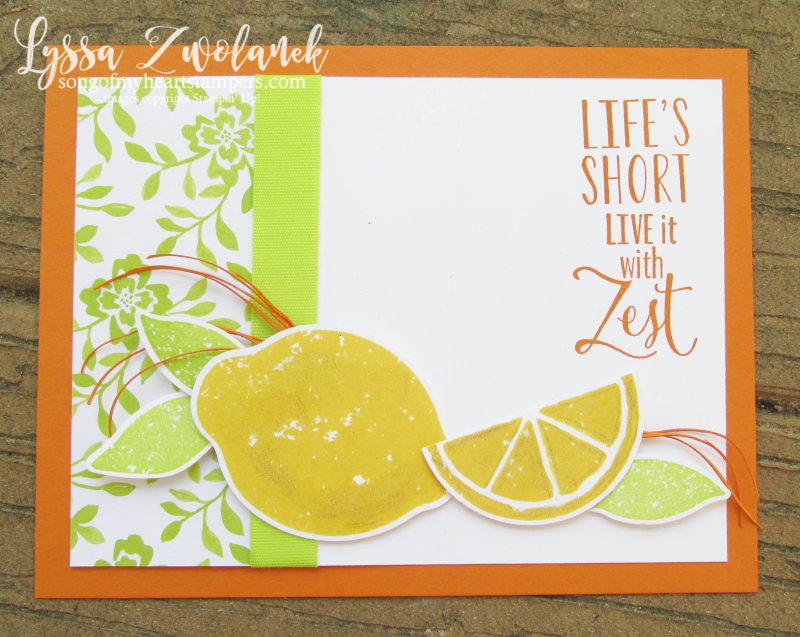 Zest Lemon Bundle Punch Stampin Up rubber stamps free catalog Shop with Lyssa lemons orange citrus lime