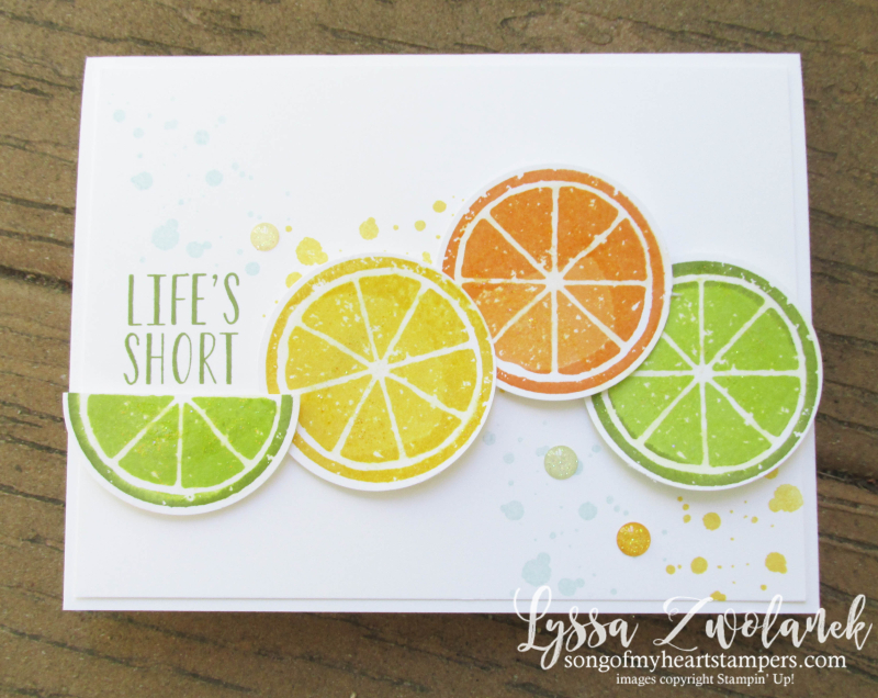 Citrus Lemon Lime Twist Orange Slices Zest Squeeze chuck back Stampin Up techniques punches