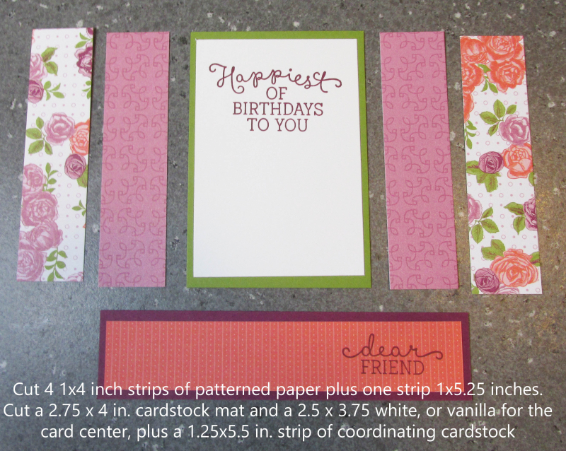 Bridge fold card tutorial free cardmaking easy tutorials stampin up Lyssa
