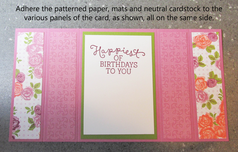 Bridge fold card tutorial free quick cardmaking tutorials cards stampin up Lyssa
