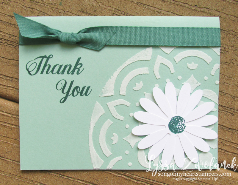 Daisy Delight thank you class of month club Lyssa Stampin Up embossing paste