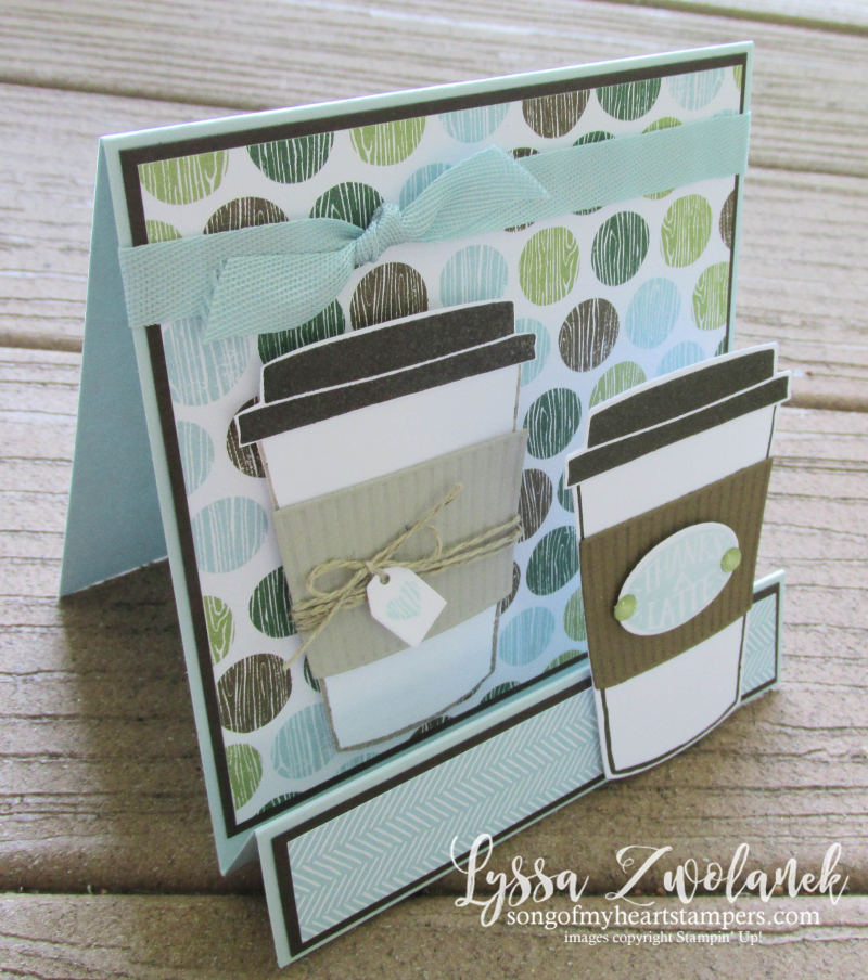 Coffee Break Class Month Song of My Heart Stampers stampin up simple standup beans Lyssa