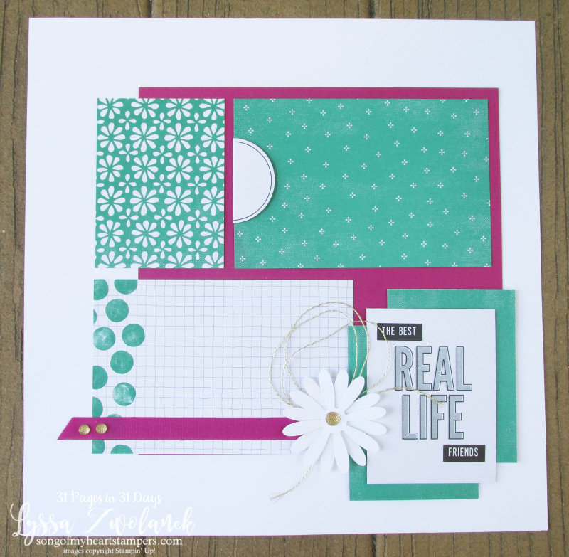 31 pages days scrapbooking summer school spread layout pages daisies delight daisy punch delight stampin up Lyssa