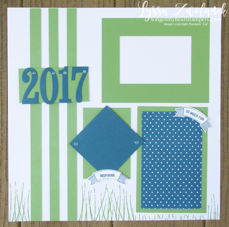 One Sheet Wonders Scrapbooking Summer School Stampin Up layouts sketches scrapbook team album pages