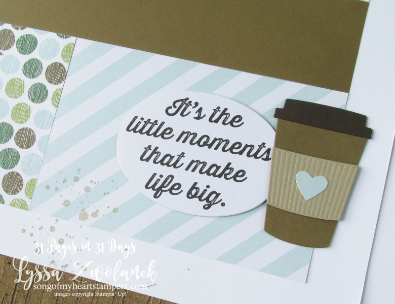 Coffee Break Suite Cafe papers scrapbooking summer school pages days 31 stampin up Lyssa