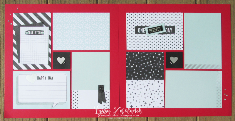 Perfect Days more memories stampin up 31 pages days Lyssa cards scrapbooking layout traditional scrapbook