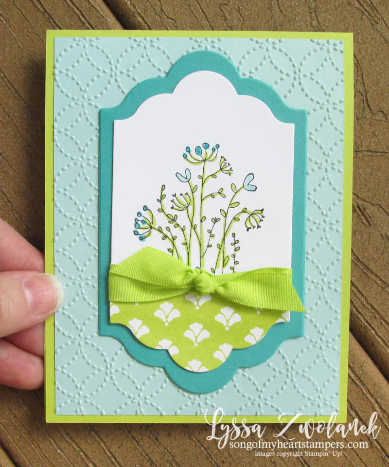 Flirty Flowers new stampin up catalog lots labels framelits big shot lemon lime twist