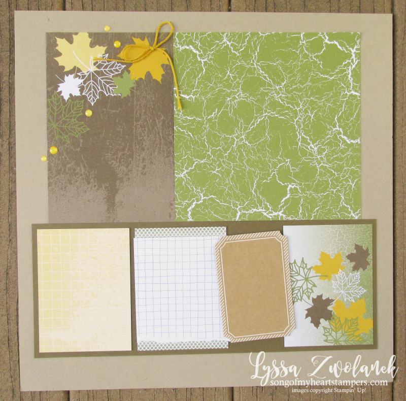 Autumn Leaves Color Theory Memories More Stampin Up scrapbooking fall 31 pages days Lyssa