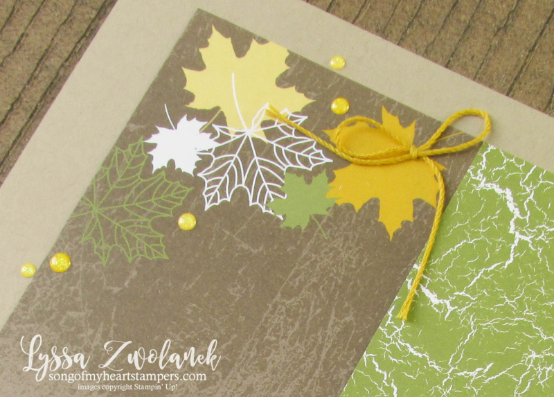 Autumn Leaves Color Theory Memories More Stampin Up scrapbooking 31 pages days Lyssa