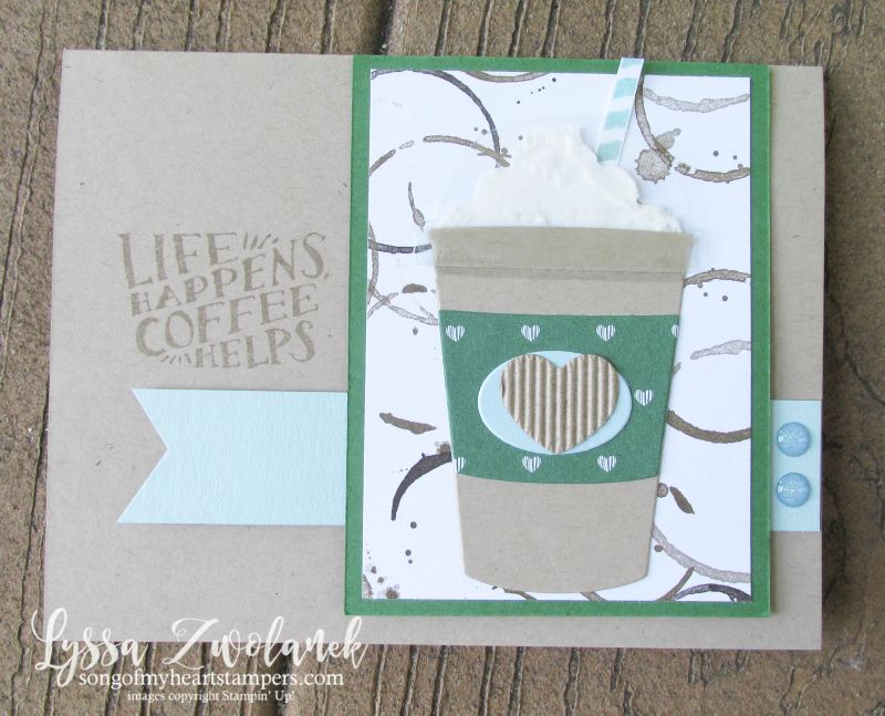 Coffee Break Class Month Song of My Heart Stampers stampin embossing paste whipped cream Lyssa