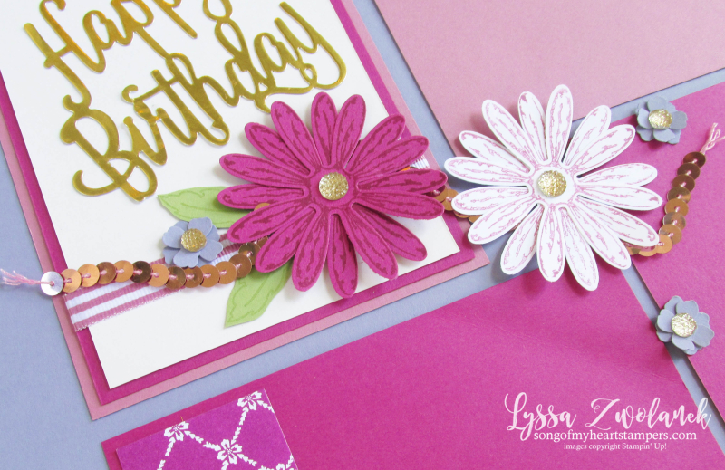 Birthday daisies daisy punch stampin up ideas pages days 31 scrapbooking layouts cards Lyssa