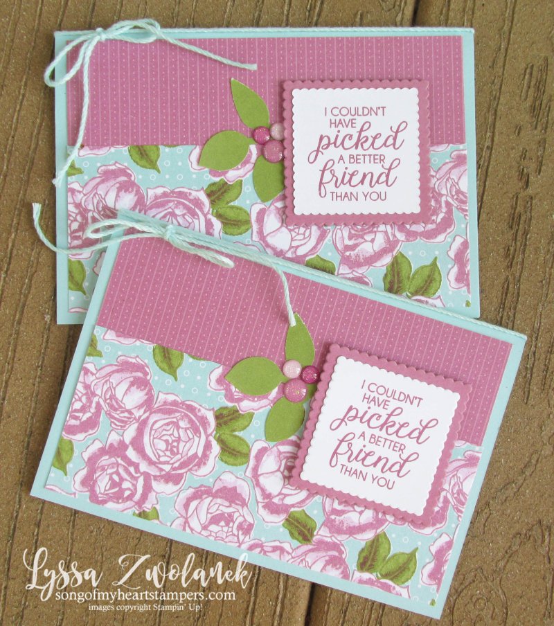 Ribbon of Courage Leaf Punch Stampin Up Glitter Enamel Dots berries thank you card Lyssa