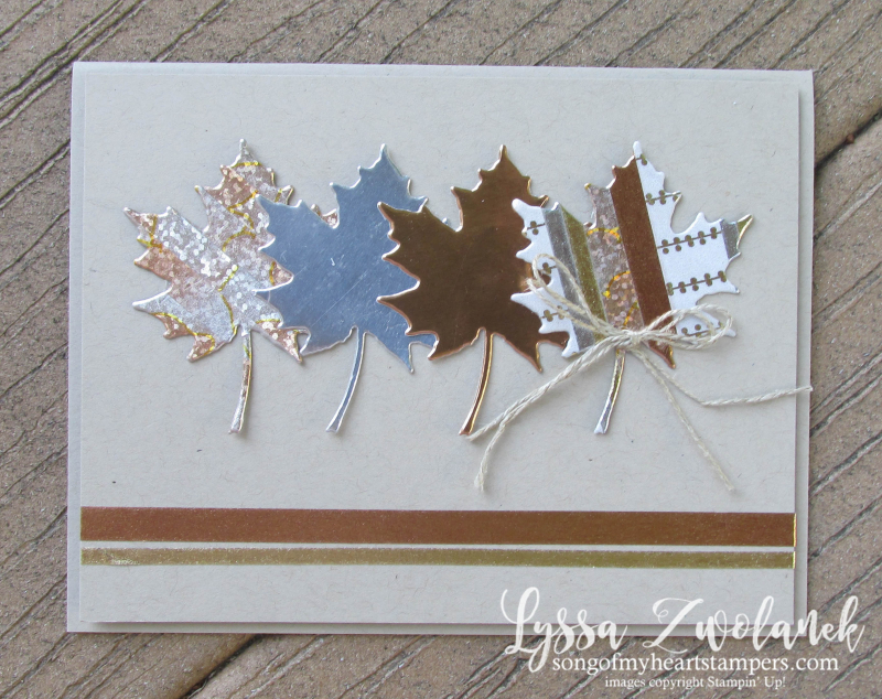 Metallic Washi Tape Autumn Leaves Leaf stampin up Lyssa fall card stamps