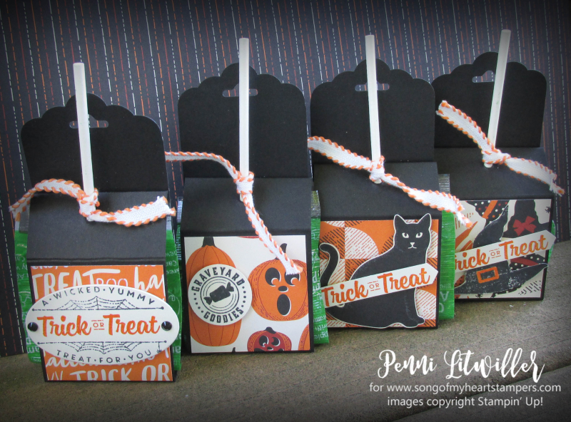 Halloween treat sucker holder candy quick ideas scalloped tag topper punchPenni Lyssa Stampin Up