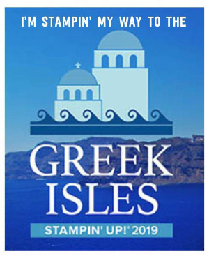 Greek Isles stampin up 2019 incentive trip