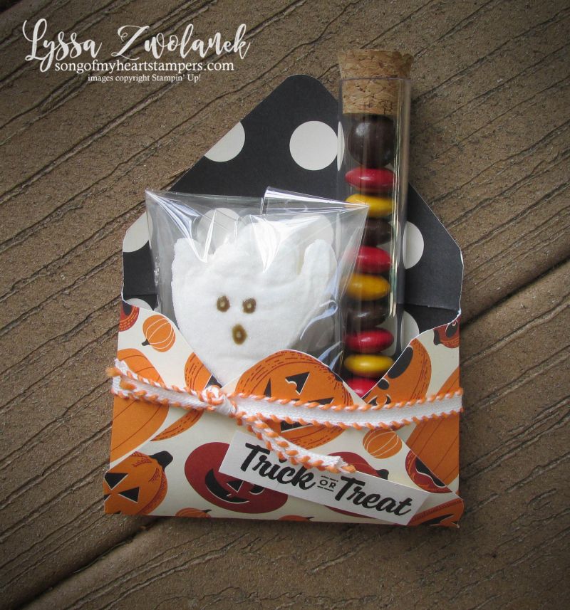 Halloween peeps gift holders packaging boxes envelopes stampin up ghost Spooky Night treatt tubes cocoa