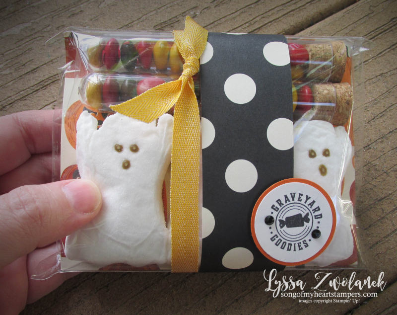 Halloween peeps gift holders packaging boxes envelopes stampin up ghost Spooky Night tubes treat cocoa