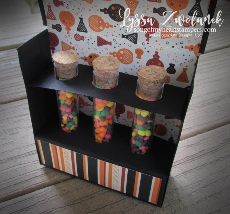 Treat Tubes test kit Nerds M&Ms Stampin Up halloween Spooky Night multiple box holders tutorial