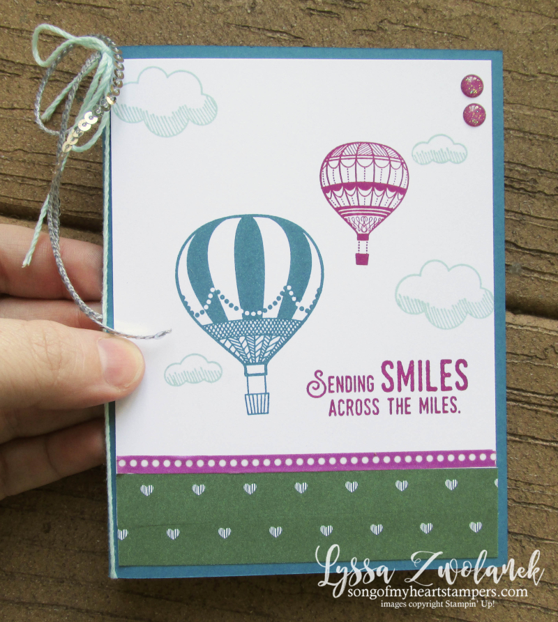 Lift Me Up hot air balloon ride miles sending smiles embossing paste cloud stencil cloud Stampin Up